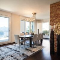 interior luxury apartment, beautiful dining room